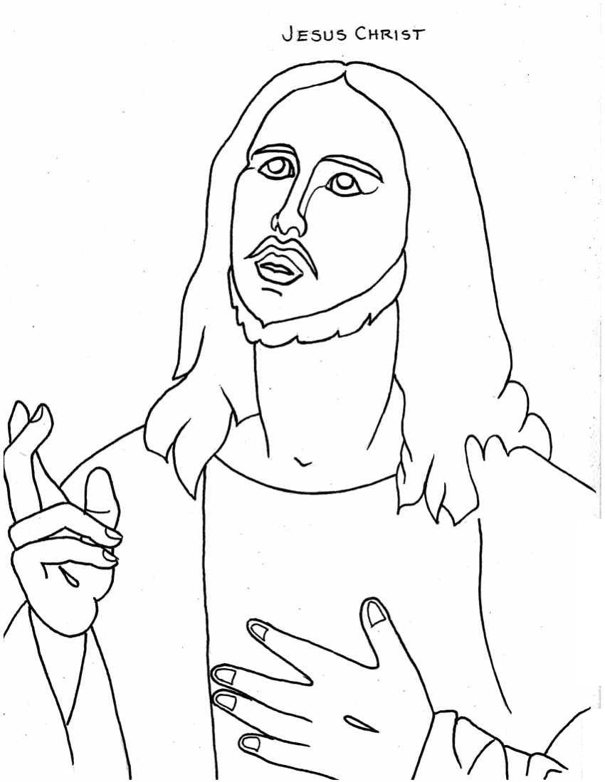 coloring jesus jesus drawing for kids at getdrawings free download coloring jesus