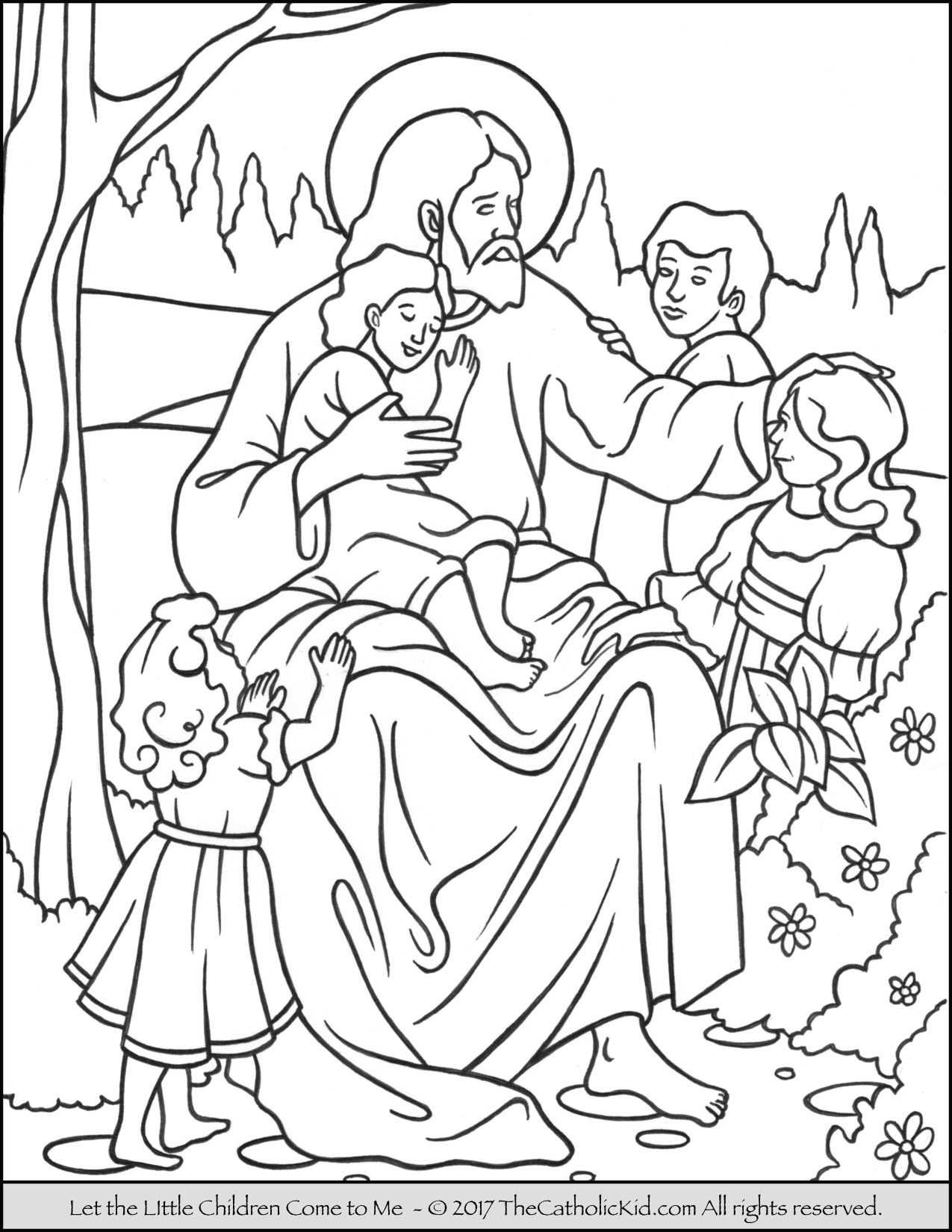 coloring jesus jesus let the little children come to me coloring page coloring jesus