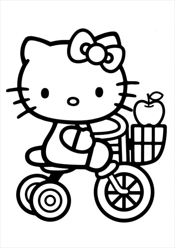 coloring kitty hello kitty coloring pages getcoloringpagescom kitty coloring