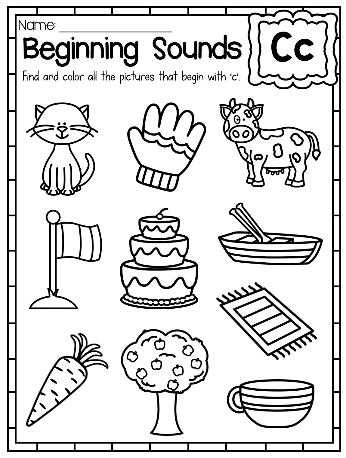 coloring letter c worksheets for kindergarten letter c coloring pages to download and print for free c coloring letter kindergarten for worksheets