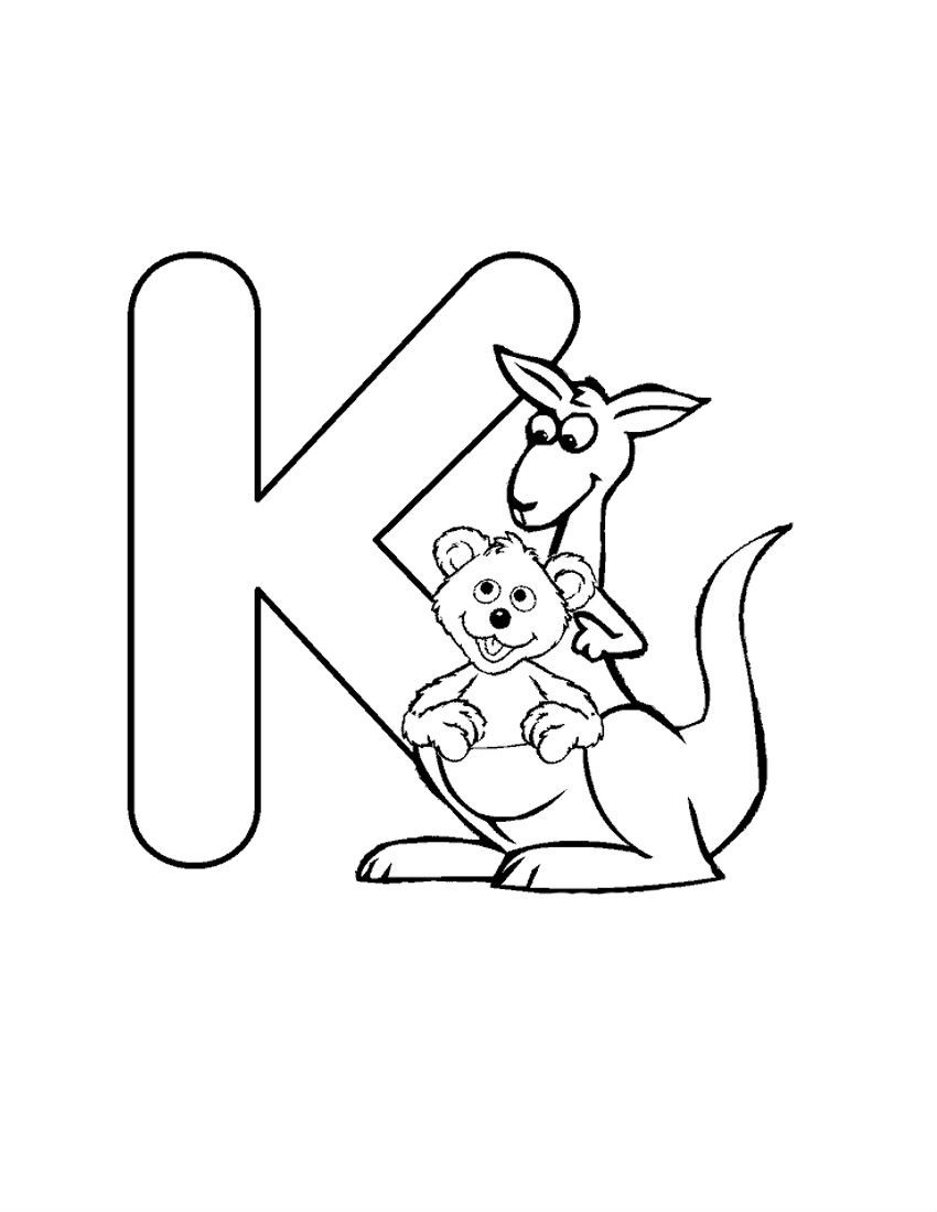 coloring letter k alphabet with funny letters coloring pages coloring home letter coloring k