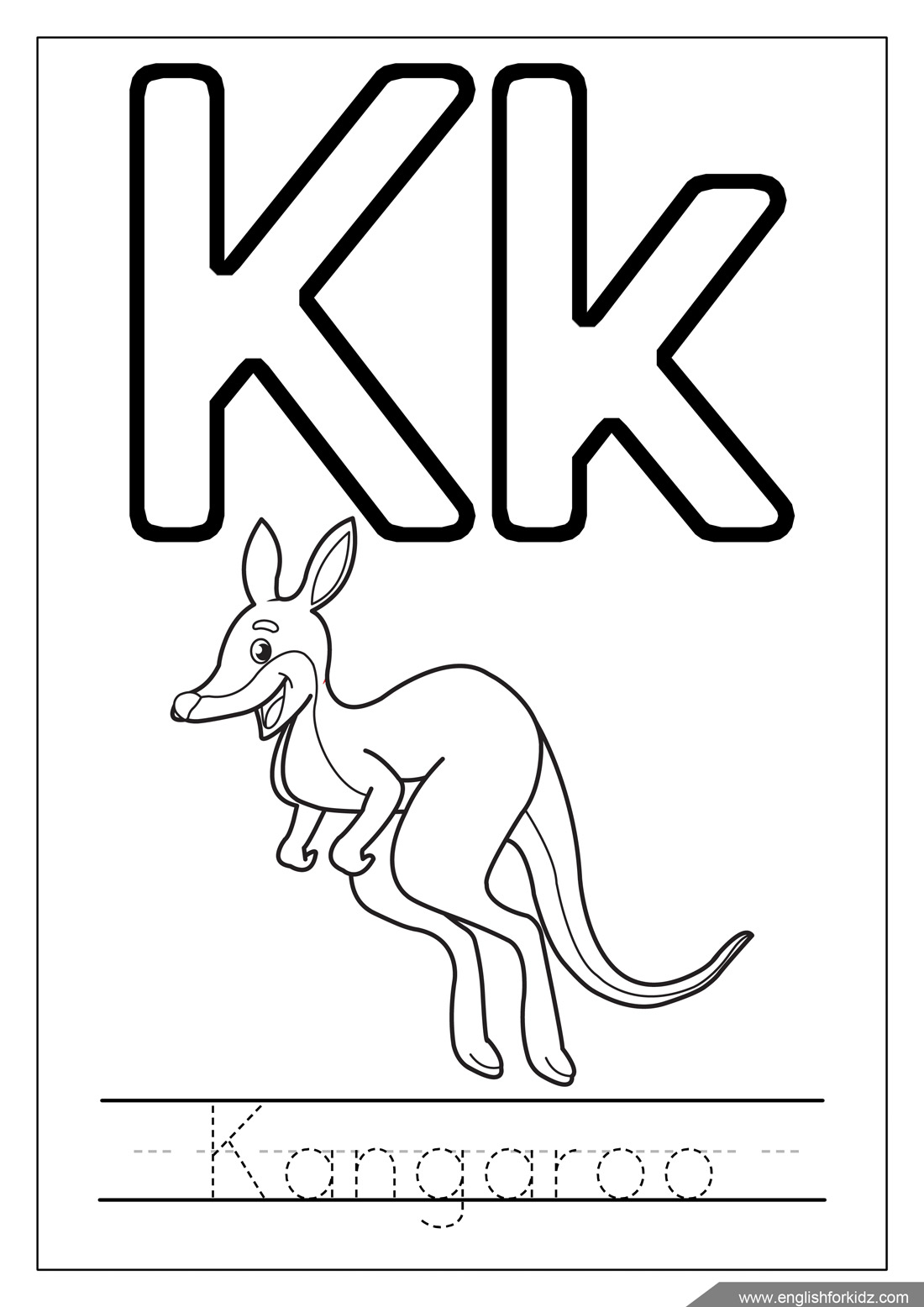 coloring letter k letter k drawing at getdrawings free download coloring letter k