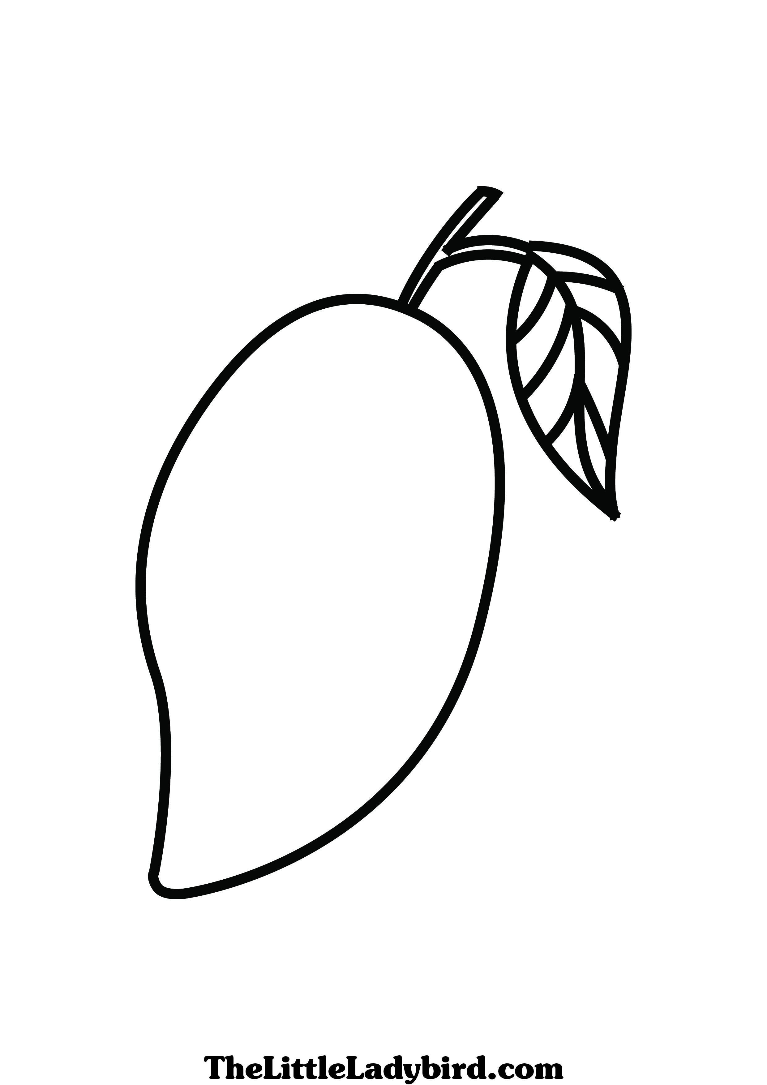 coloring mango template mango coloring pages fruit coloring pages coloring coloring template mango