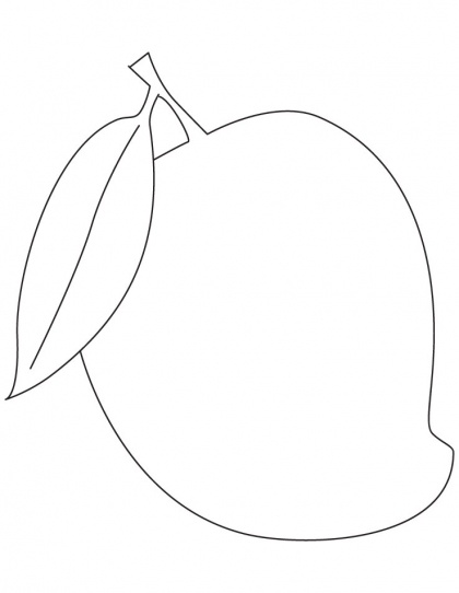 coloring mango template sweet sour mango colouring pages picolour template mango coloring