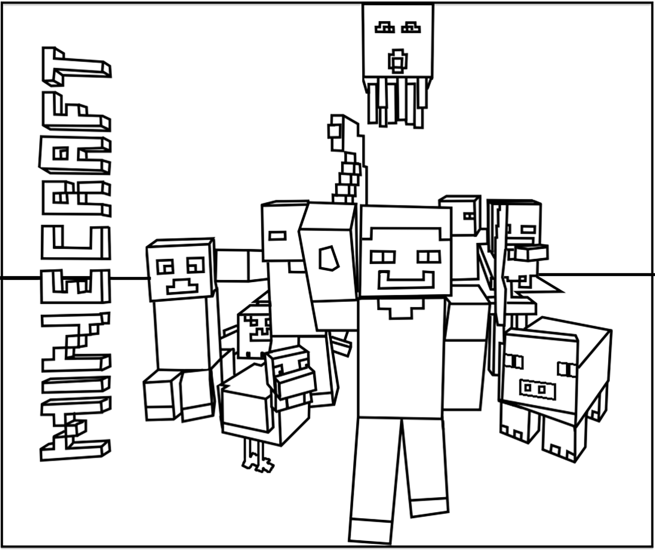 coloring minecraft pages minecraft coloring pages at getcoloringscom free minecraft pages coloring