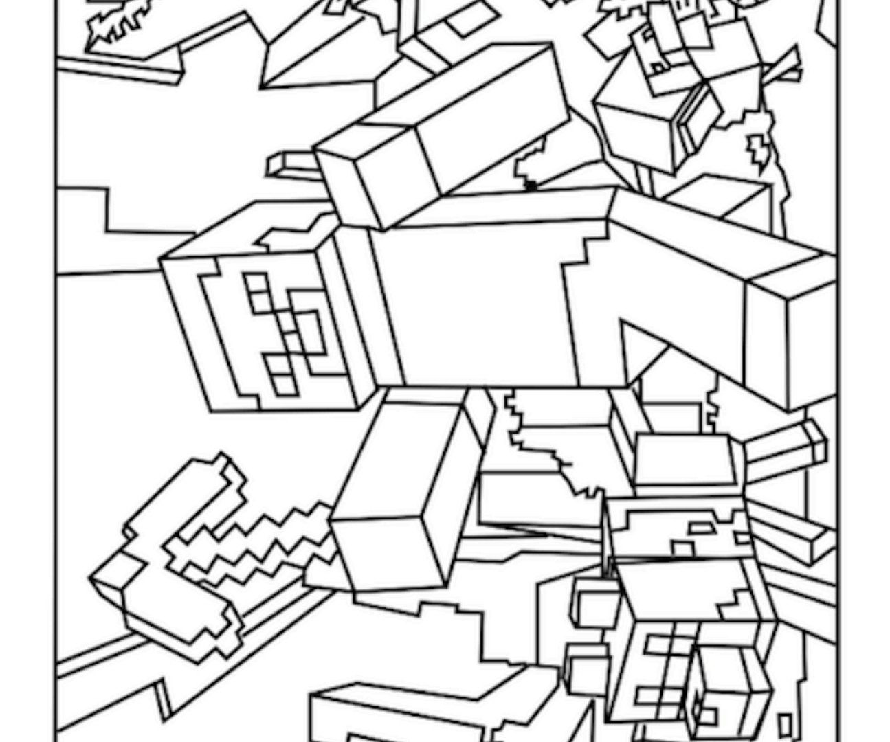 coloring minecraft pages minecraft creeper minecraft coloring page for kids coloring pages minecraft