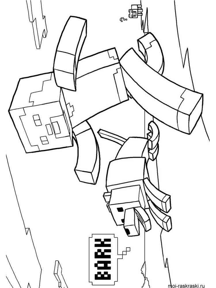 coloring minecraft pages minecraft mobs a minecraft coloring page for kids minecraft coloring pages
