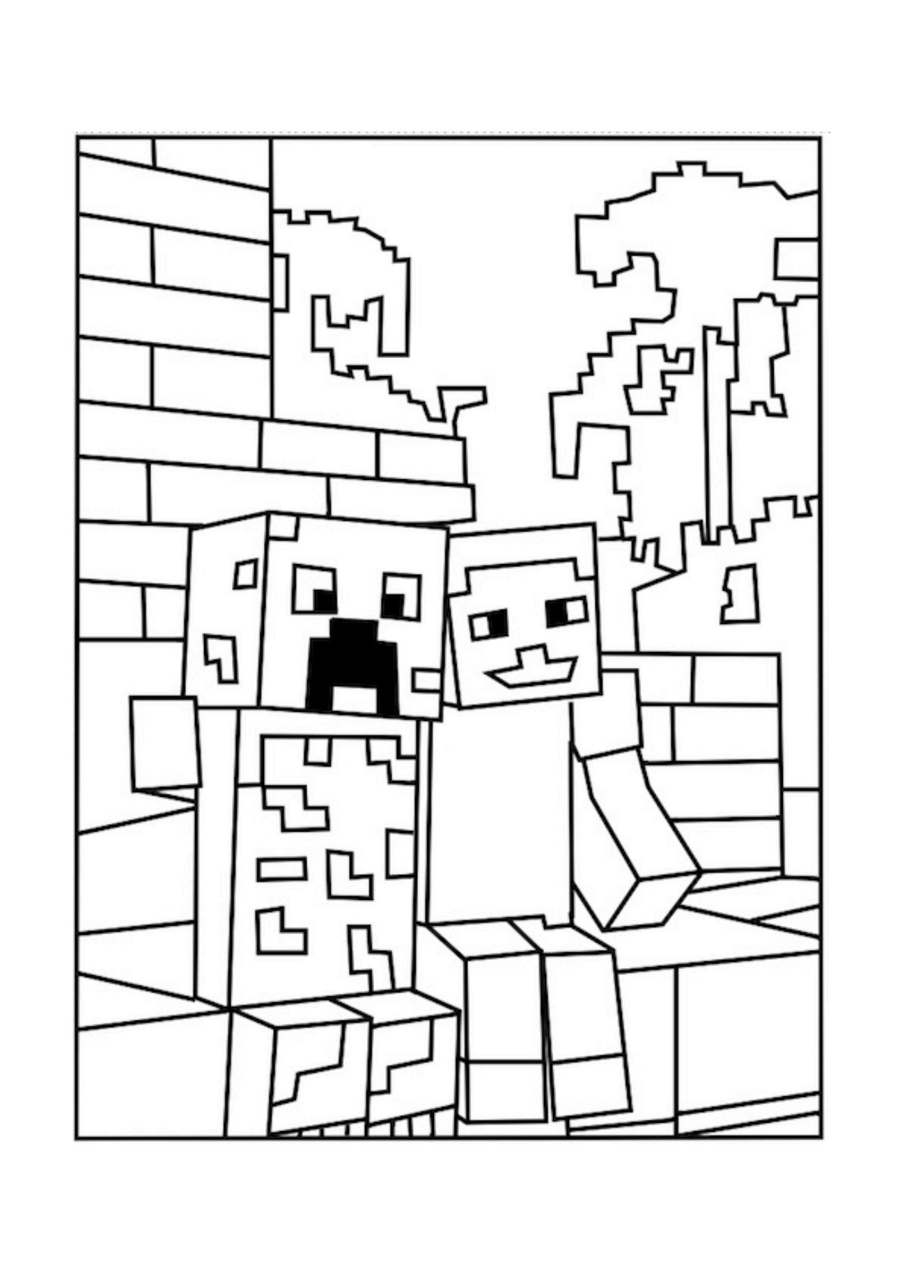 coloring minecraft pages printable minecraft coloring pages coloring home coloring pages minecraft