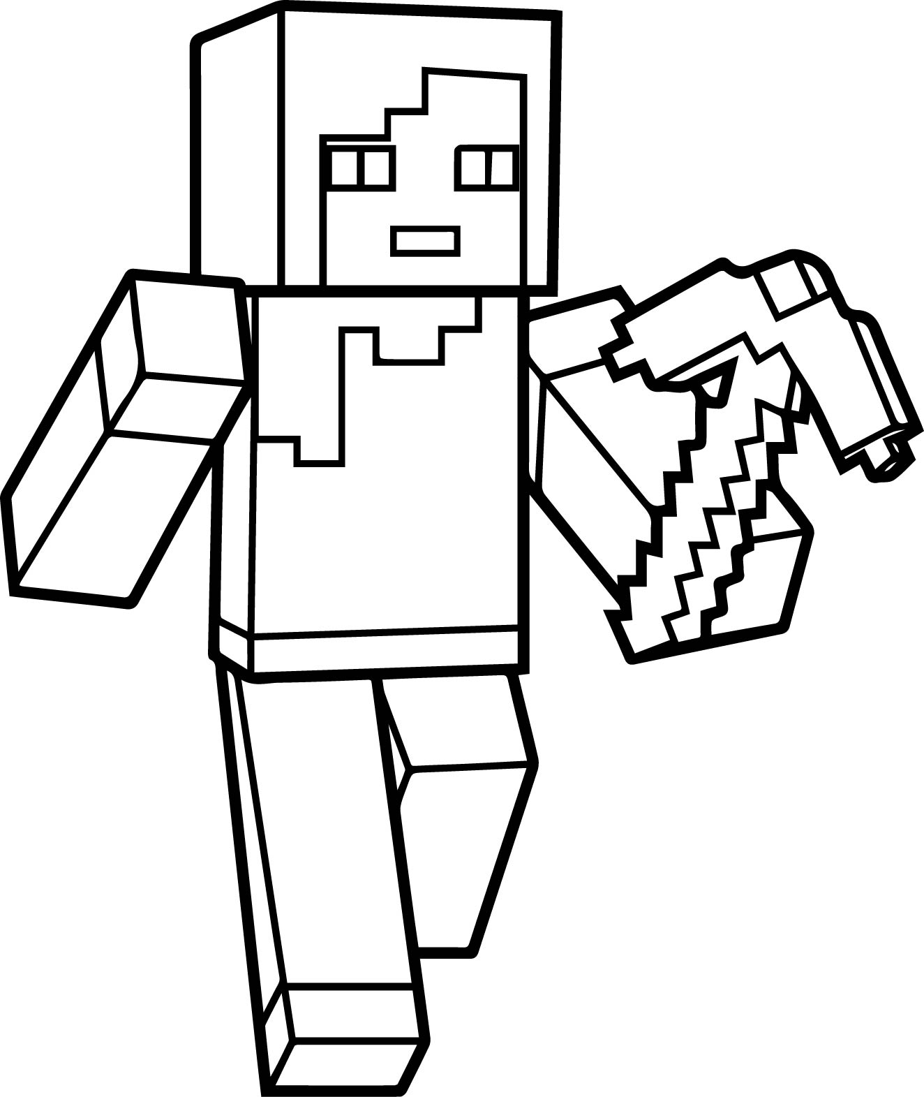 coloring minecraft printables minecraft steve coloring pages getcoloringpagescom coloring minecraft printables