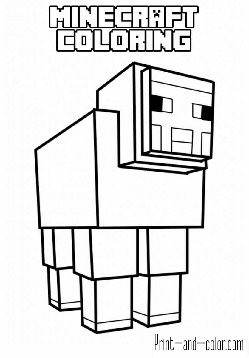 coloring minecraft worksheets minecraft coloring pages at getcoloringscom free minecraft worksheets coloring