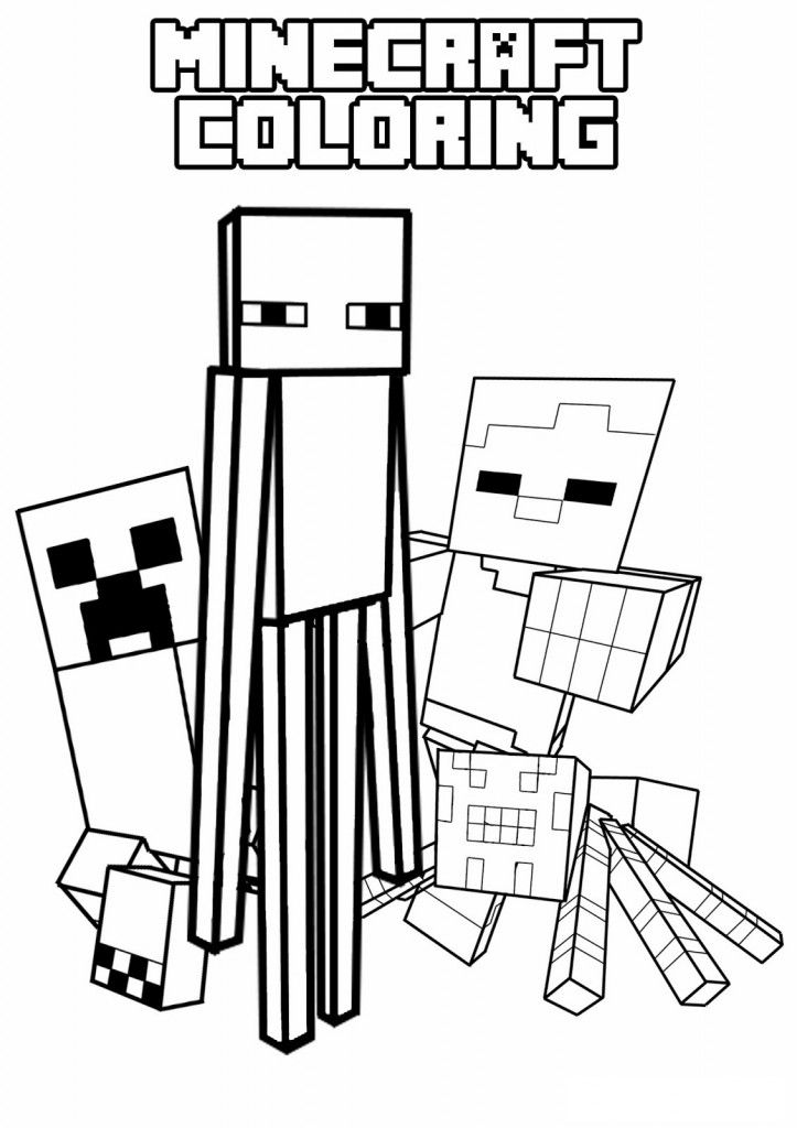 Coloring minecraft worksheets