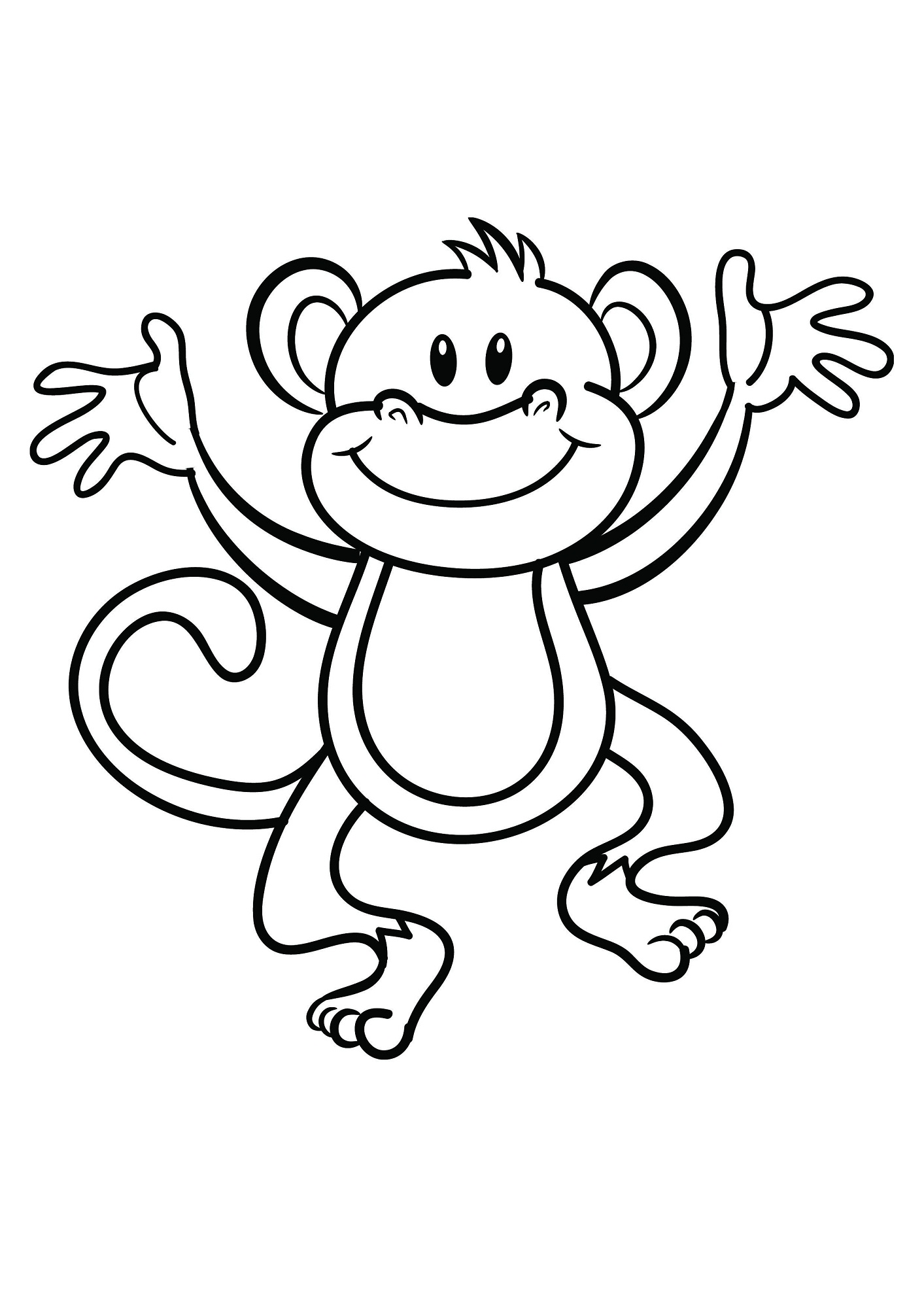 coloring monkey printable coloring pages of monkeys printable activity shelter monkey coloring printable
