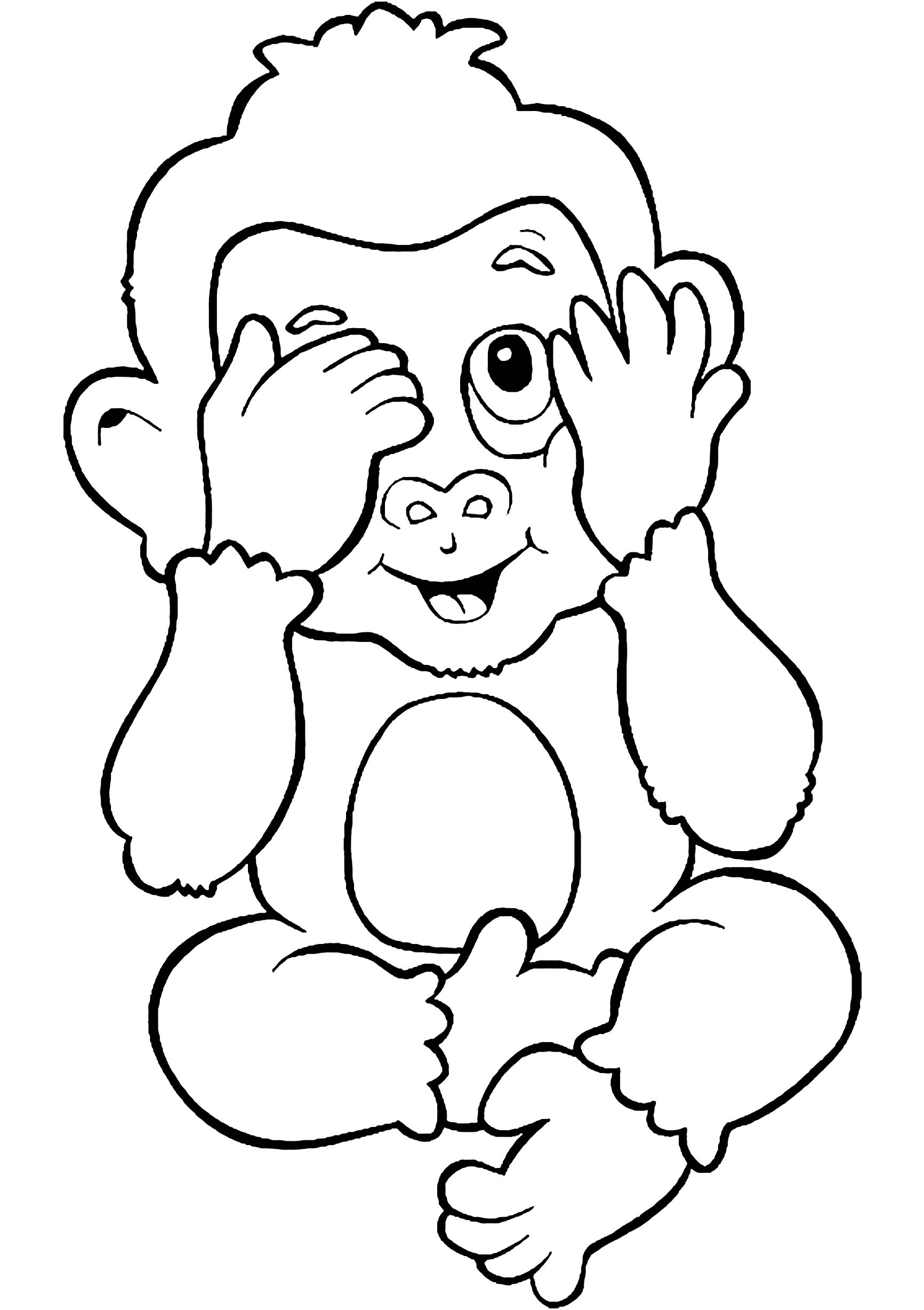 coloring monkey printable cute coloring pages getcoloringpagescom printable coloring monkey
