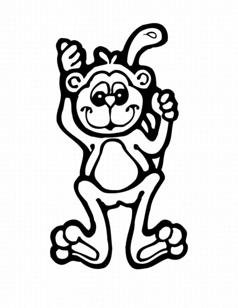 coloring monkey printable free printable monkey coloring pages for kids jeffersonclan monkey coloring printable