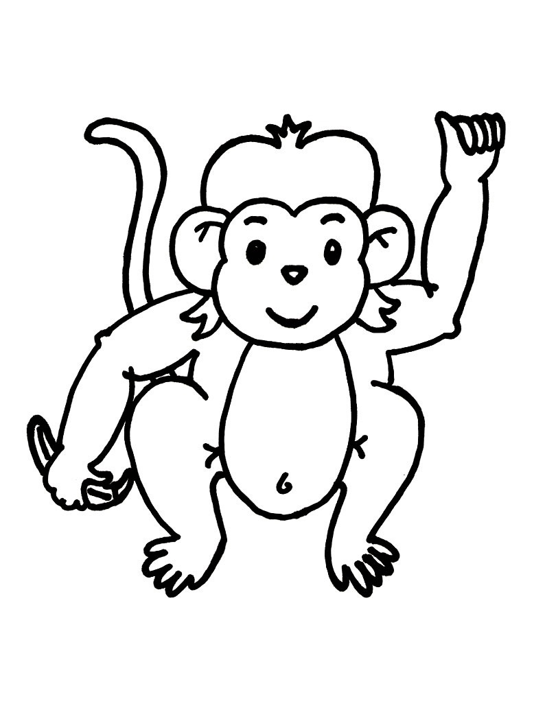 coloring monkey printable get this summer coloring pages to print out for adults monkey coloring printable