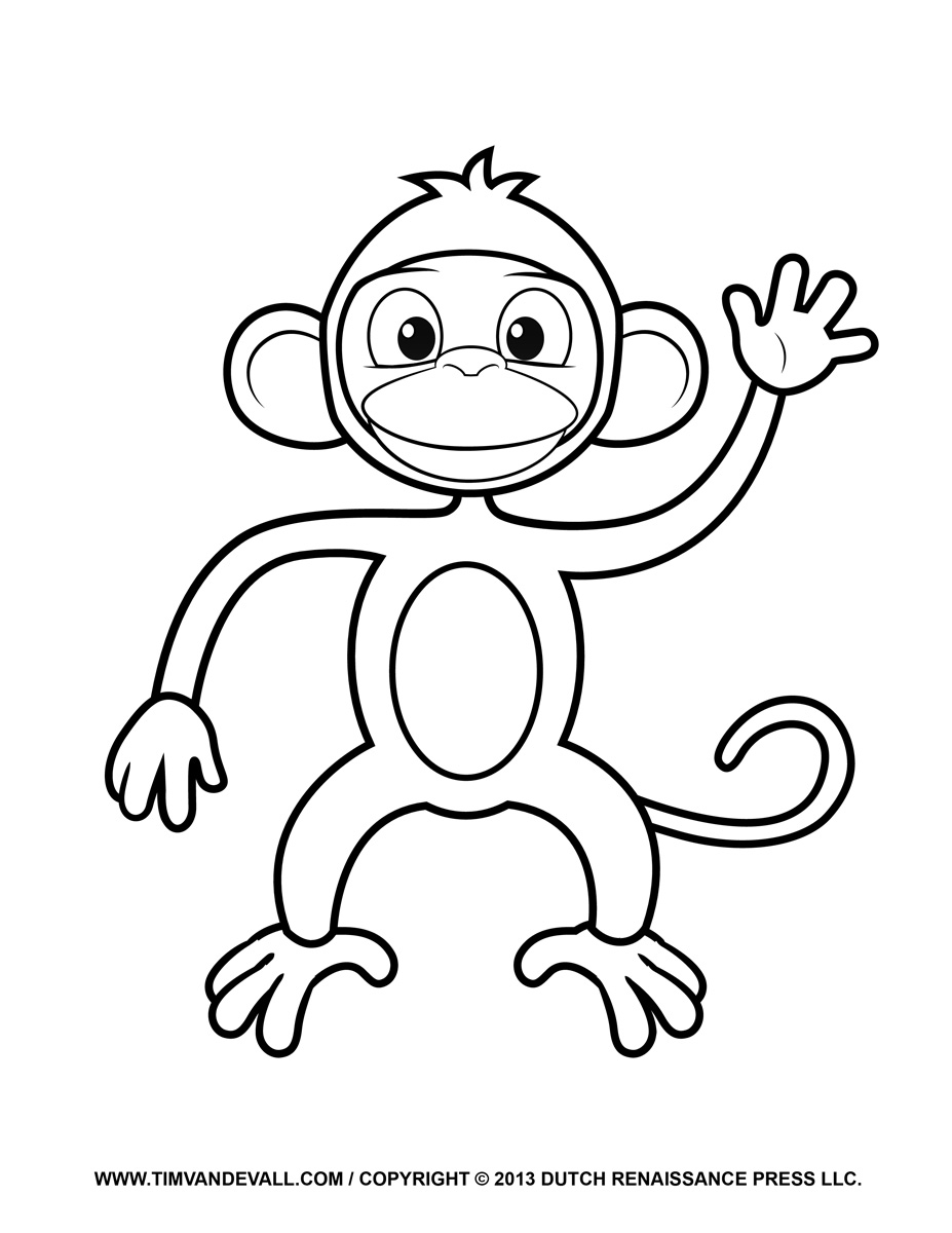 coloring monkey printable monkey coloring pages free download on clipartmag coloring printable monkey