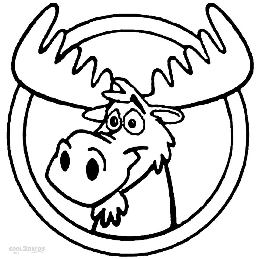 coloring moose printable moose coloring pages for kids cool2bkids coloring moose