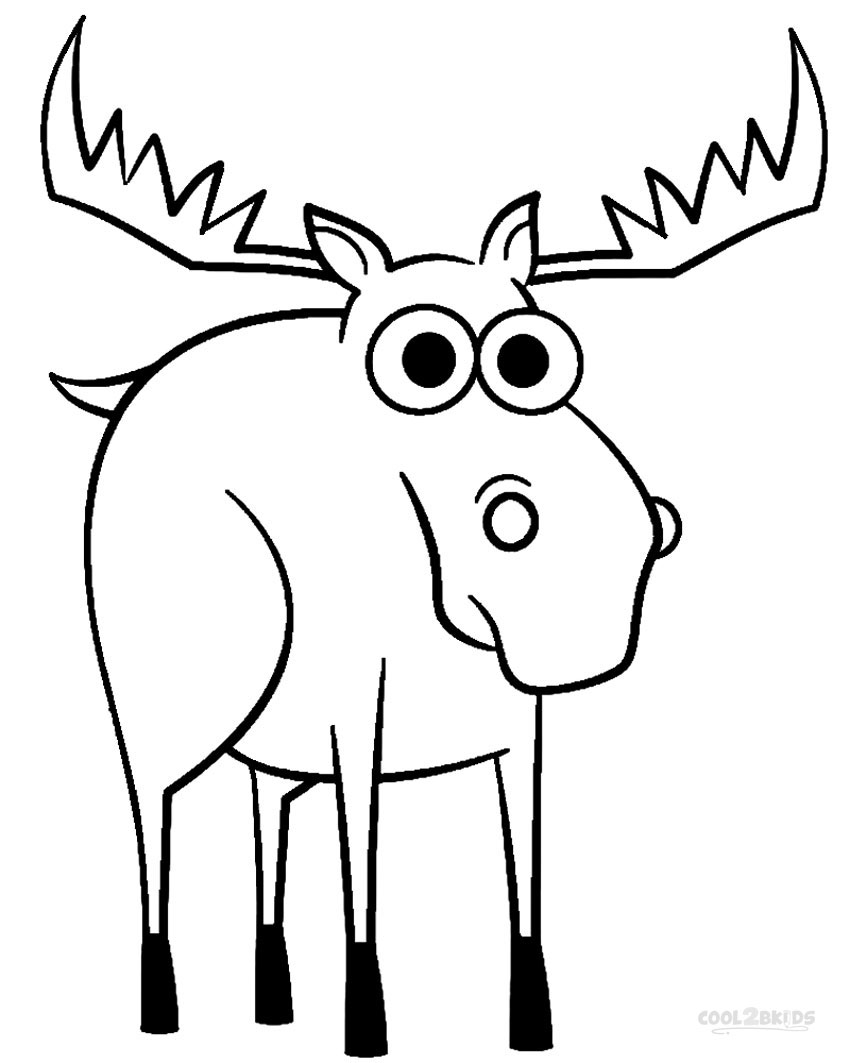 coloring moose printable moose coloring pages for kids cool2bkids moose coloring 1 1