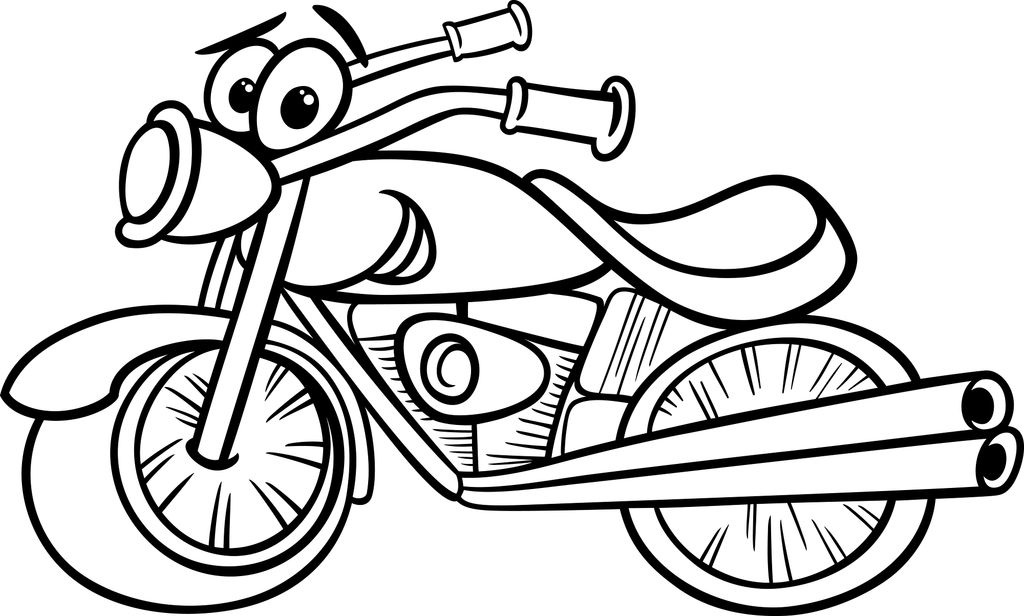 Coloring motorcycle pages