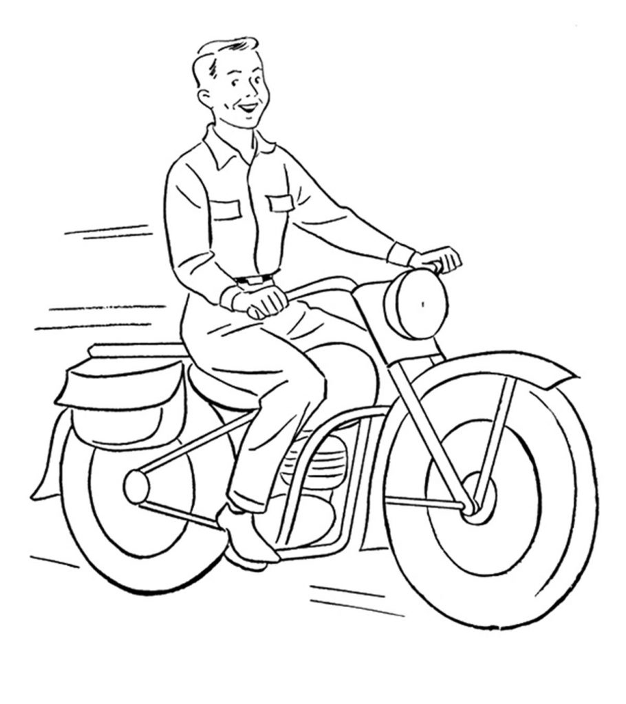 coloring motorcycle pages harley davidson motorcycle coloring page free printable coloring pages motorcycle