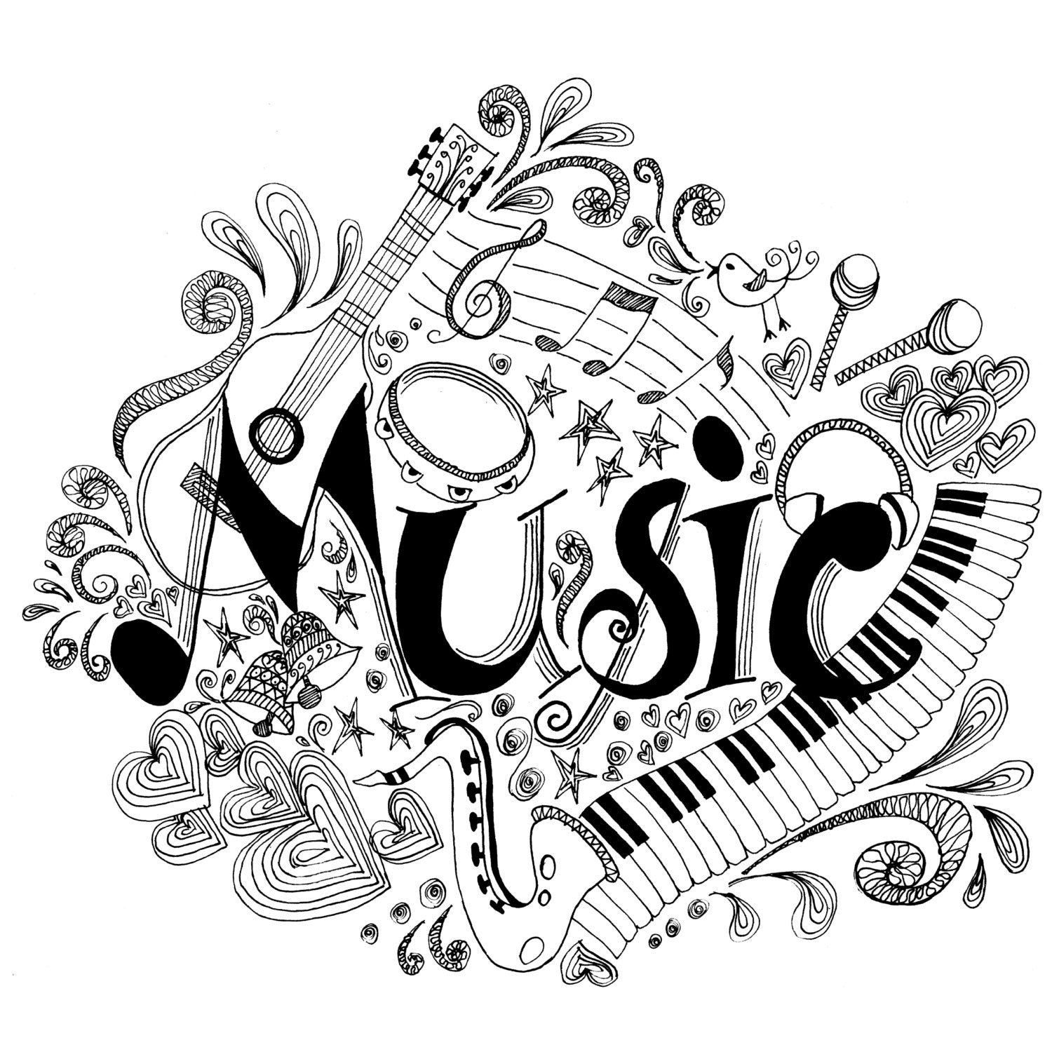 coloring notes printable coloring page zentangle music coloring book coloring notes