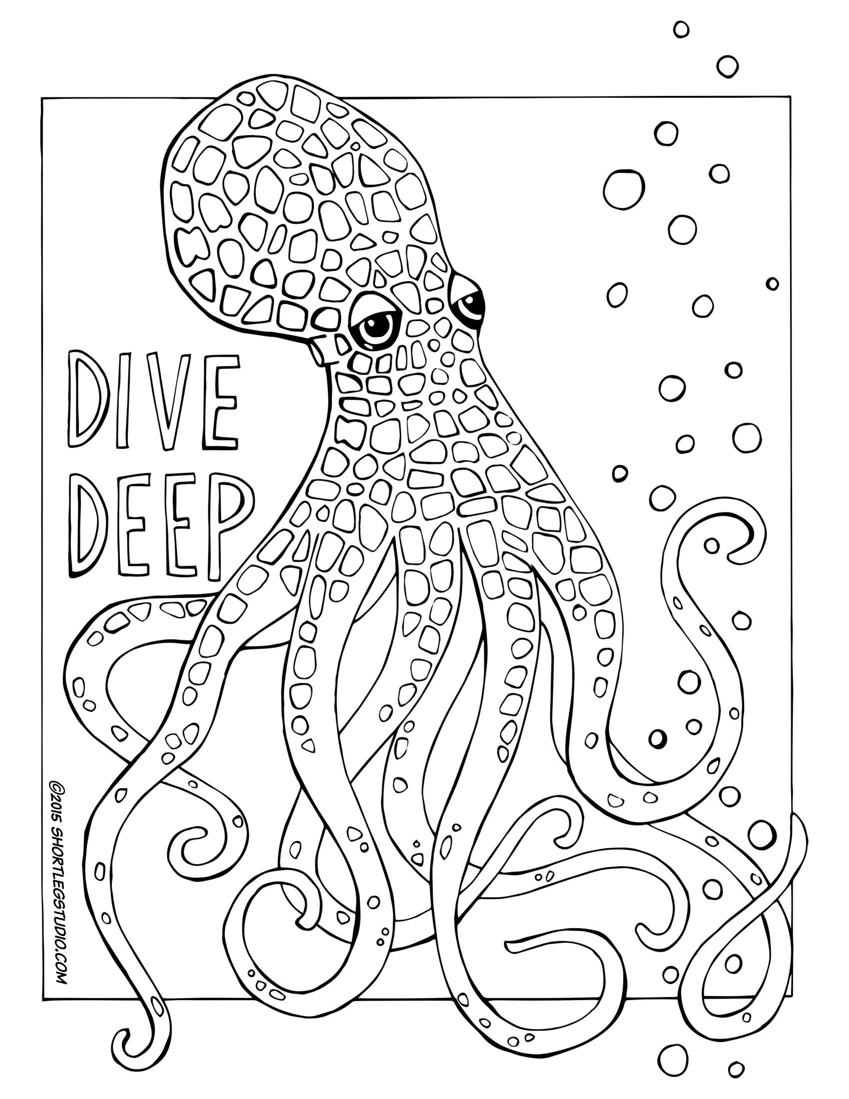 coloring octopus colour octopus winking coloring page color luna coloring colour octopus