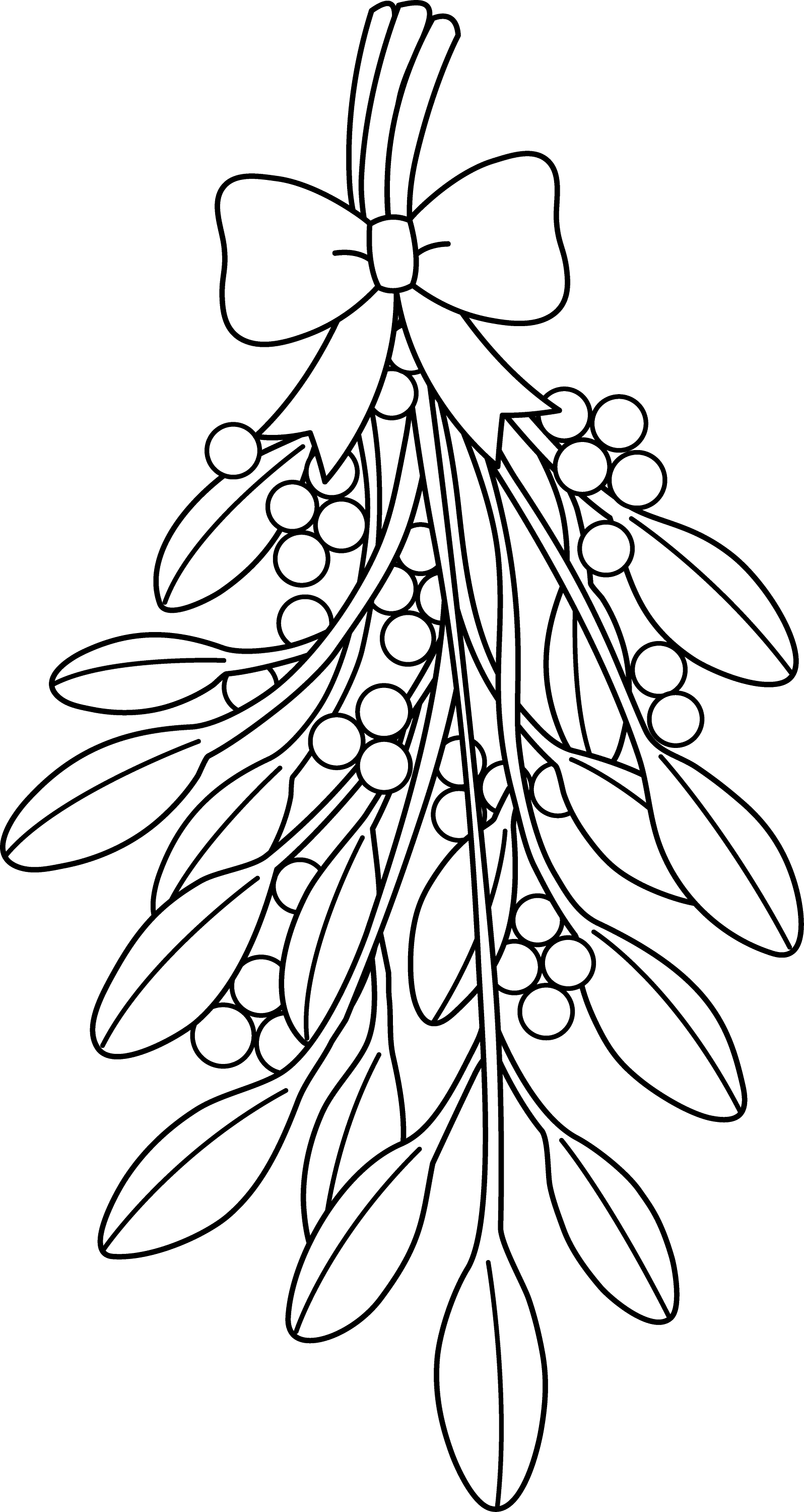 coloring outline pictures christmas mistletoe line art free clip art pictures coloring outline