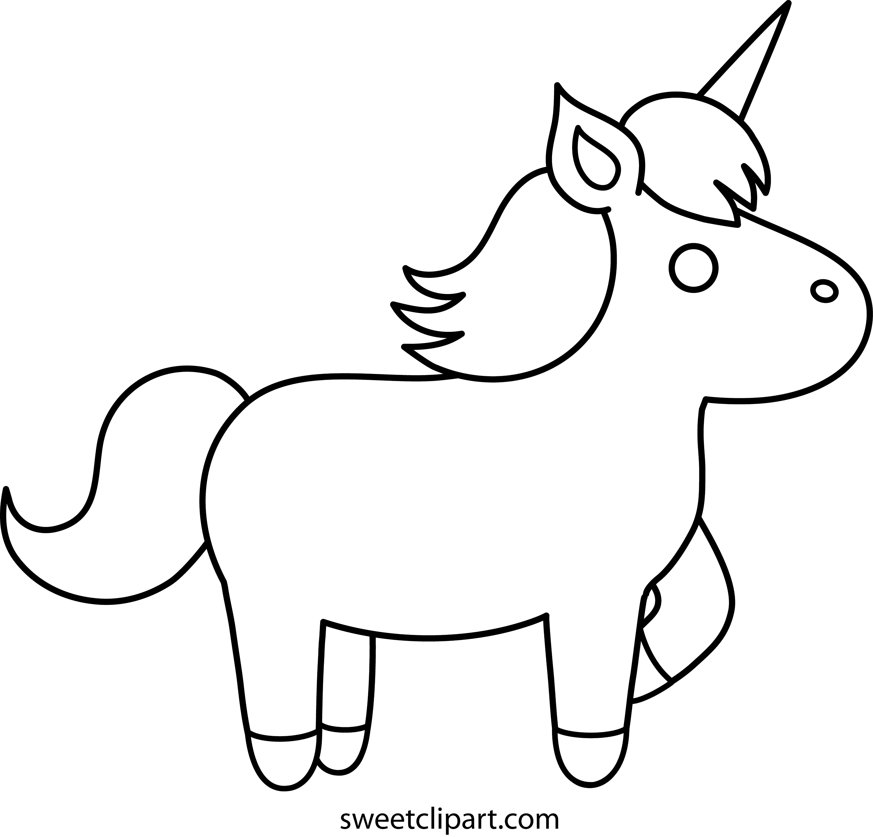 coloring outline pictures cute unicorn coloring page free clip art pictures outline coloring