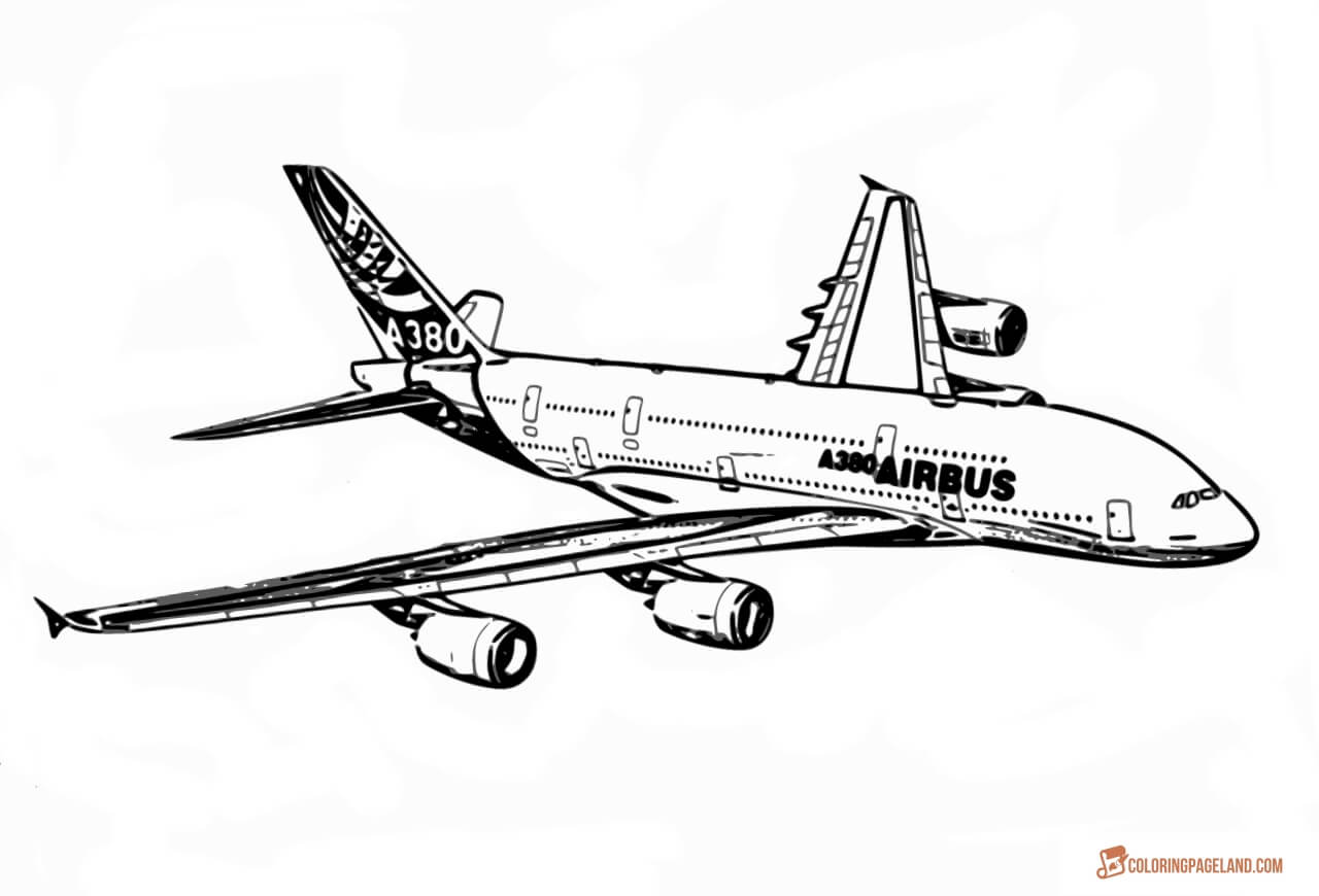 coloring page airplane airplane coloring pages to download and print for free coloring airplane page