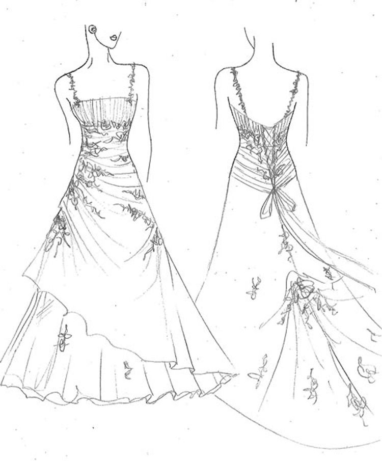 coloring page dress dress coloring page for girls printable free dress coloring page