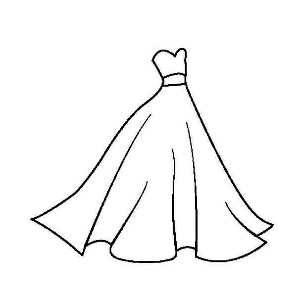 coloring page dress dress coloring pages getcoloringpagescom page coloring dress