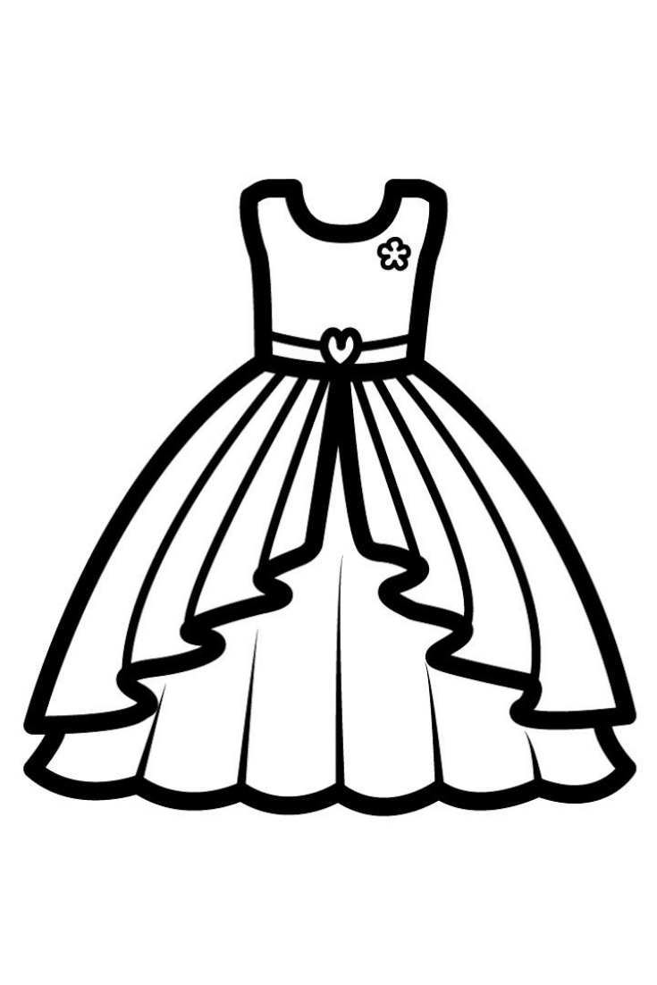 coloring page dress dress drawing free download on clipartmag dress page coloring