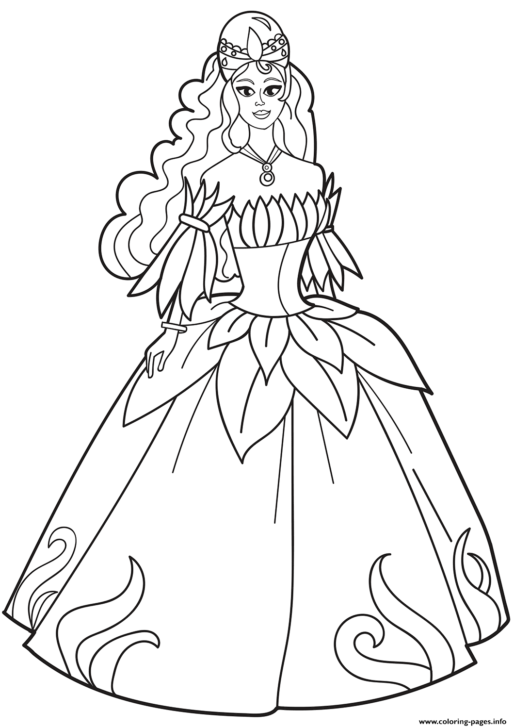 coloring page dress lady in pretty dress coloring page free clothing coloring page dress