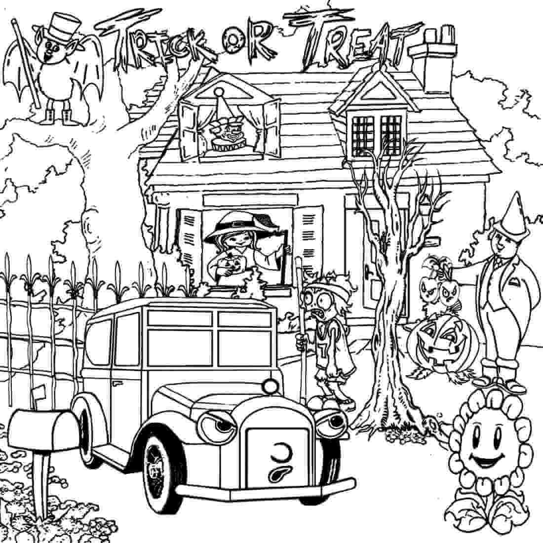 coloring page haunted house 25 free printable haunted house coloring pages for kids coloring haunted house page