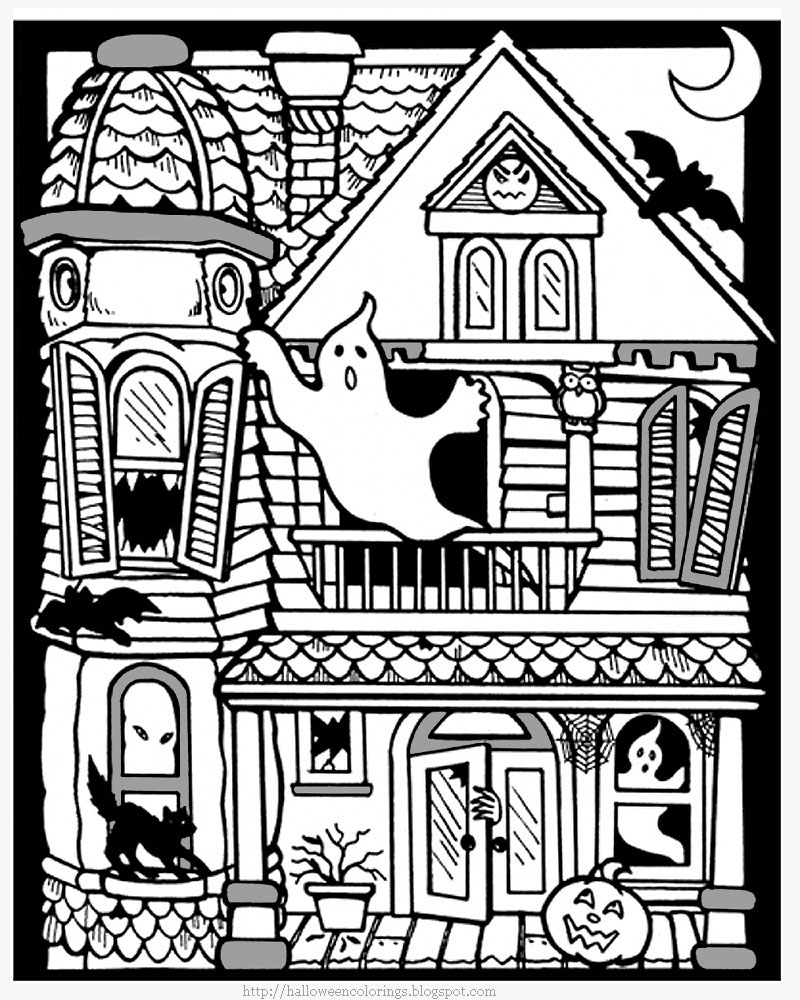 coloring page haunted house 25 free printable haunted house coloring pages for kids coloring house page haunted
