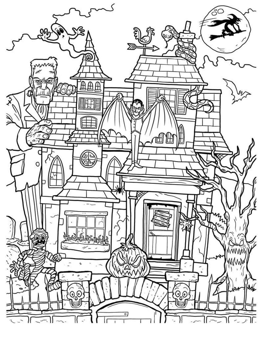 coloring page haunted house haunted house coloring page crayolacom coloring page house haunted
