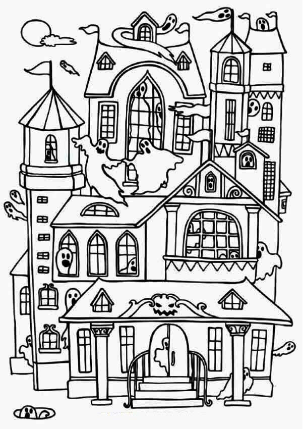 coloring page haunted house haunted house coloring page pdf coloring pages haunted page coloring house