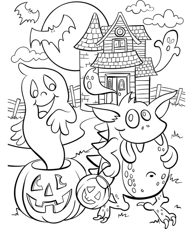 coloring page haunted house haunted house coloring pages getcoloringpagescom house page coloring haunted