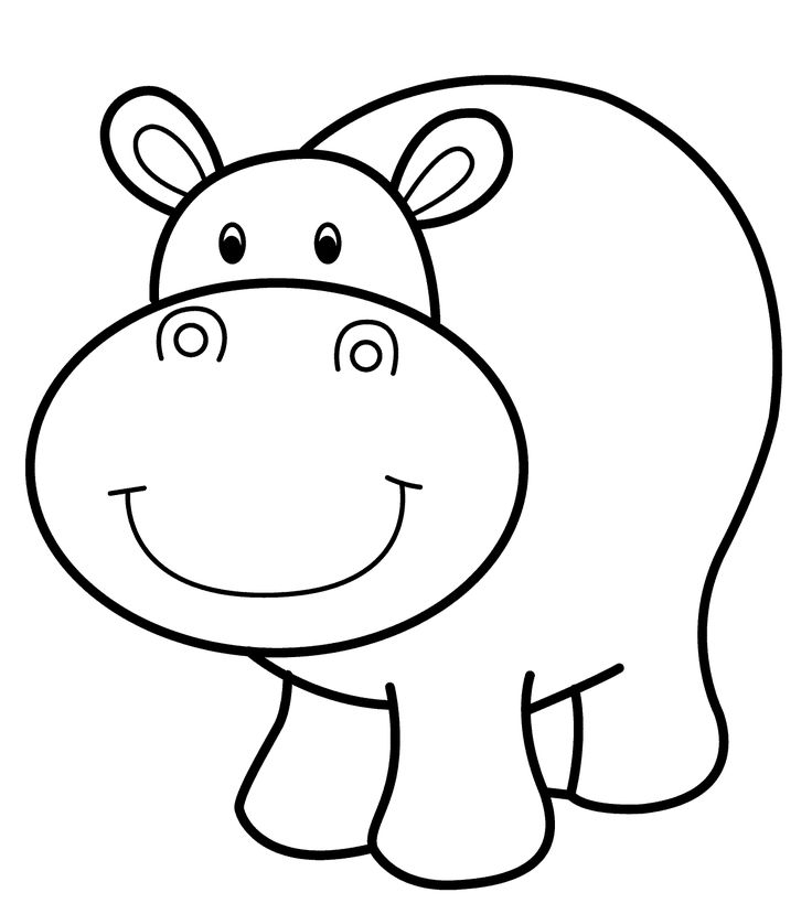 coloring page hippo hippo outline drawing at getdrawings free download hippo coloring page