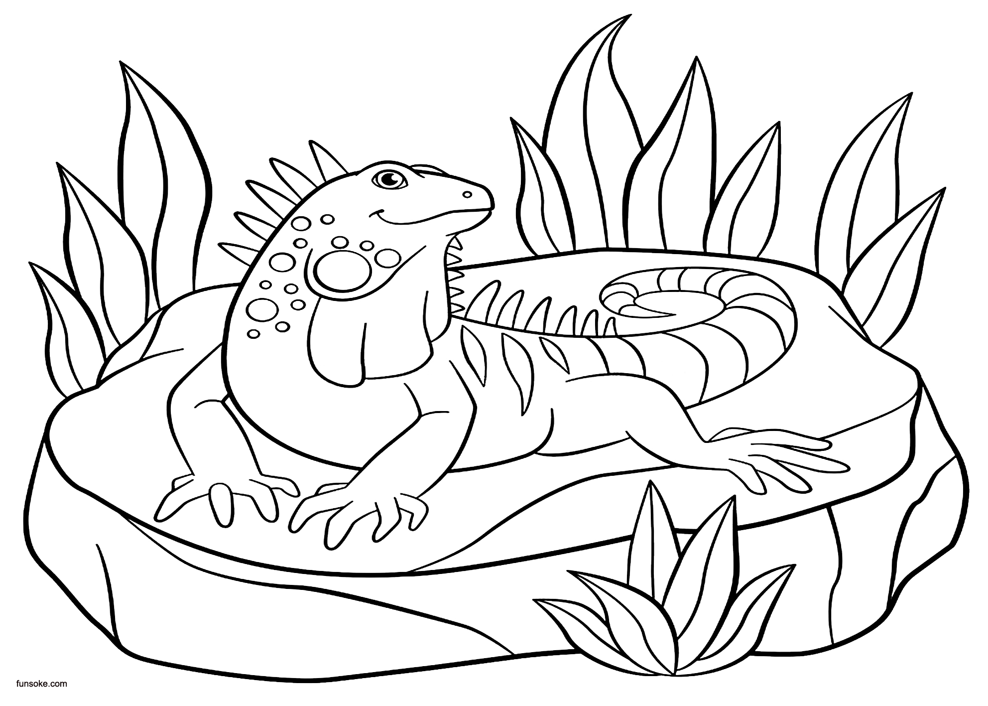 coloring page iguana happy iguana coloring free animal coloring pages sheets coloring iguana page