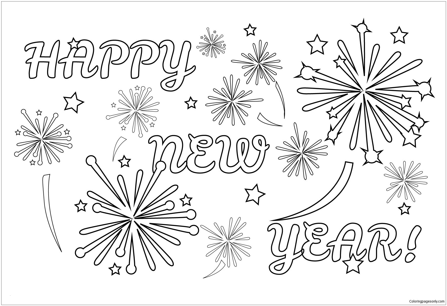 coloring page of fireworks fireworks coloring pages firework colors coloring pages page coloring of fireworks