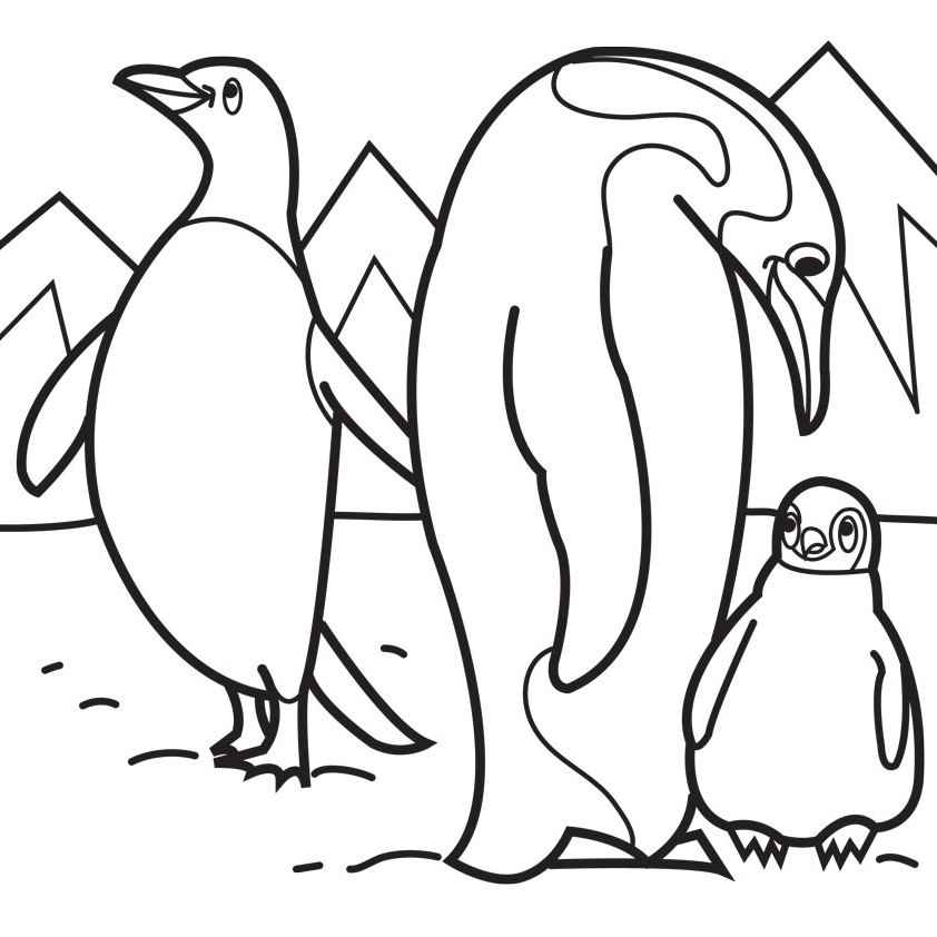 coloring page of penguin emperor penguin coloring pages printable coloring penguin of page