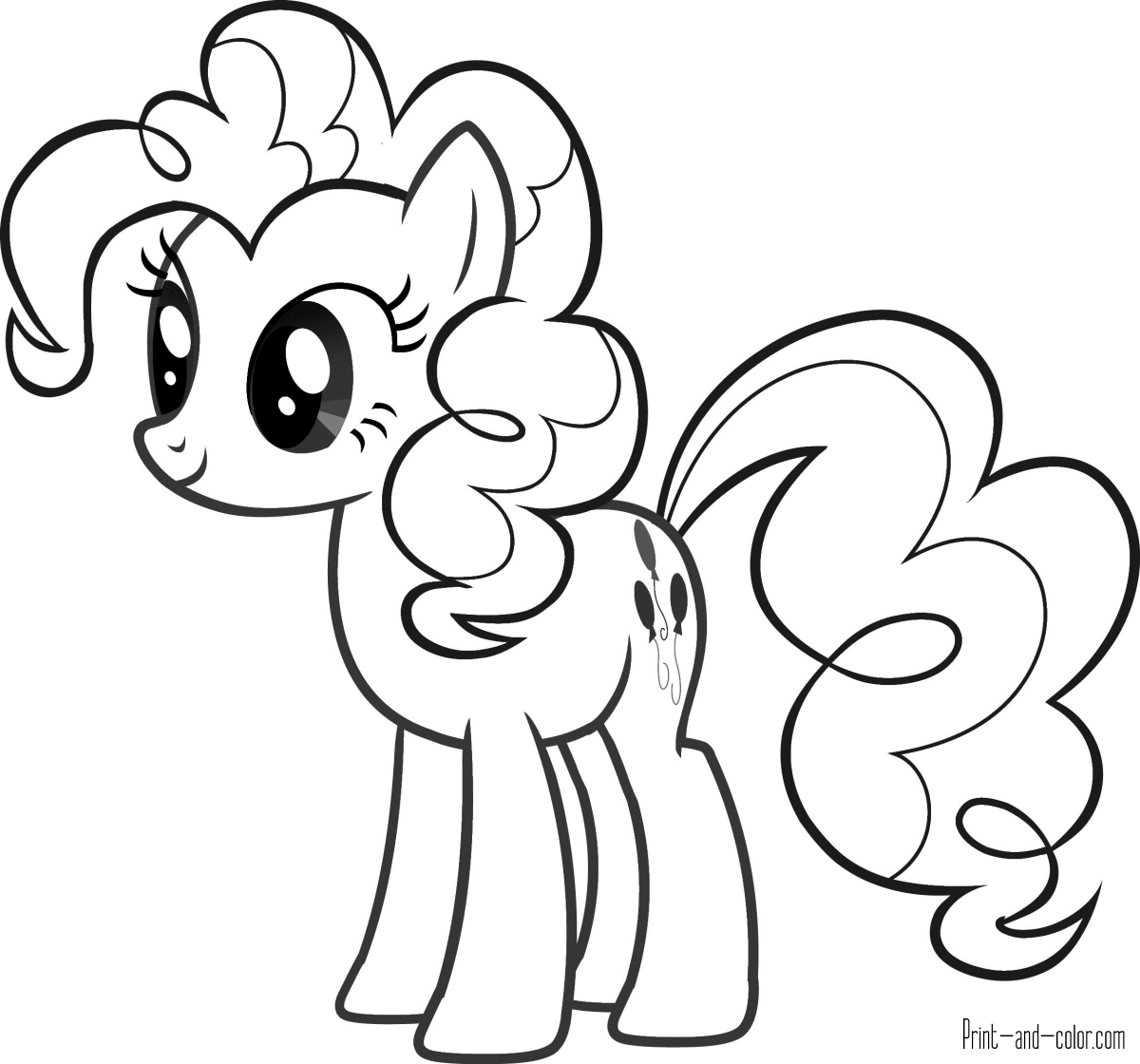 coloring page pony cute pony coloring pages at getcoloringscom free coloring page pony