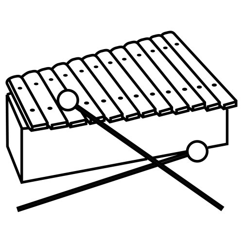 coloring page xylophone a xylophone coloring page coloringcrewcom page xylophone coloring