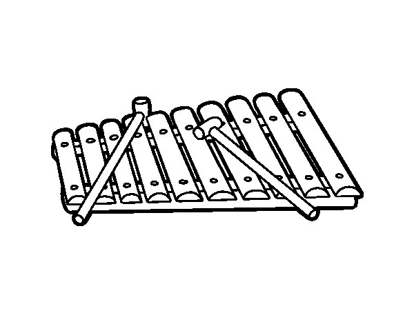 coloring page xylophone coloriage xylophone color coloring page xylophone