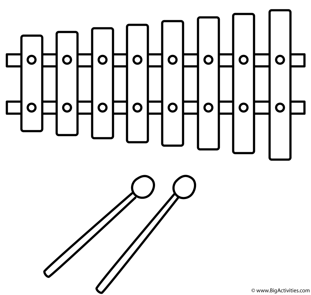 coloring page xylophone xylophone coloring pages page coloring xylophone