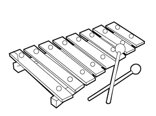 coloring page xylophone xylophone coloring sheet coloring pages coloring xylophone page