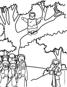 coloring page zacchaeus tree coloring pages zacchaeus tree gallery mit bildern zacchaeus page coloring tree