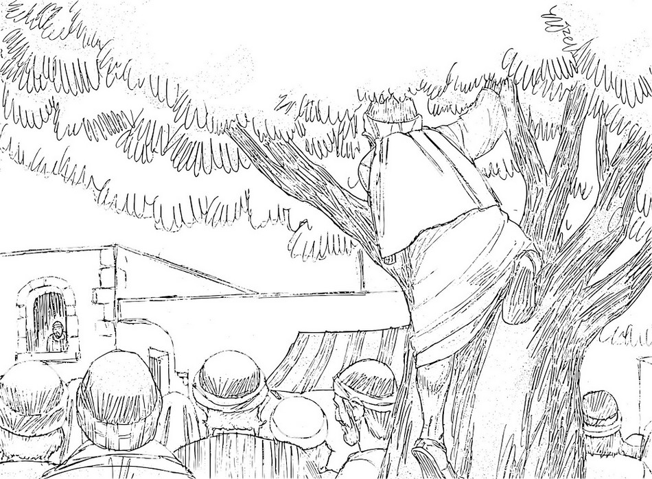 coloring page zacchaeus tree zacchaeus in the tree cut outs sunday school crafts tree zacchaeus page coloring