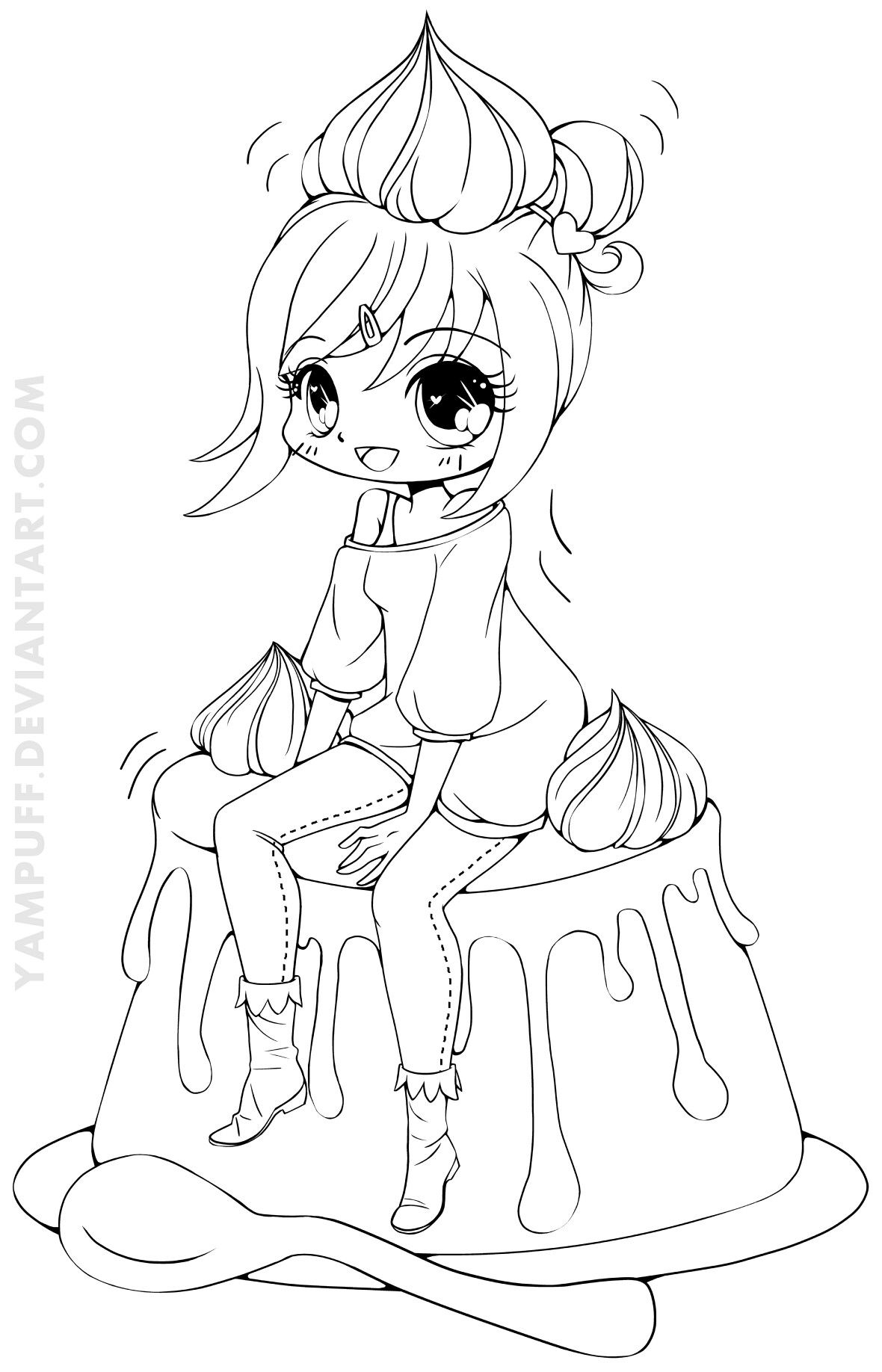 coloring pages anime chibi chibi lollipop girl coloring page free printable anime chibi coloring pages
